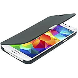 MTRONX pour S5 Mini Coque, Galaxy S5 Mini Coque, Ultra Slim Flip Magnetic Cuir Etui Housse Poche Cas Couverture pour Samsung Galaxy S5 Mini - Noir(MG-BK)