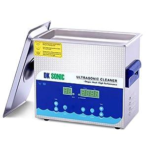DK SONIC Digital Ultraschallreiniger 3L Edelstahl Ultraschallreinigungsgerät für Uhren Schmuck Zahnprothesen Tattoo Ketten Injektor Halskette Uhren Rasierer Gläser Aufzeichnungen Brille