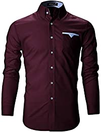 FINIVO Men's Cotton Regular Fit Casual Shirt