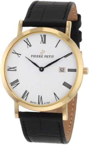 Pierre Petit - P-787D - Montre Mixte - Quartz Analogique - Bracelet Cuir Noir