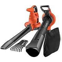 Black+Decker Laubsauger und Bläser GW3050 mit Häcksler und Laubrechen / 50l Fangsack / 3000W / Extrem stark mit variabler Blasgeschwindigkeit / Rückenschonende Benutzung