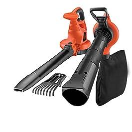 BLACK+DECKER GW3050-QS Aspirateur, Souffleur, Broyeur de feuilles filaire – Volume d'aspiration : 14 m3/min – Capacité : 50 L – 4 accessoires 3000W, Noir, Rouge,