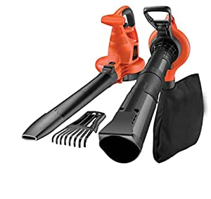 BLACK+DECKER GW3050-QS Soffiatore Aspiratore e Trituratore, con Leaf Collection, 3000 W, Nero/Rosso