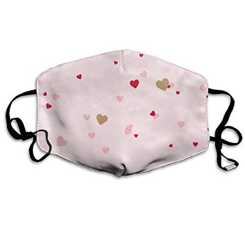 Vbnbvn Unisex Mundmaske,Wiederverwendbar Anti Staub Schutzhülle,Cupcake Cute Hearts Adult Fashion Mouth-Masks Washable Safety 100% Polyester Comfortable Breathable Health Anti-Dust Half Face Masks
