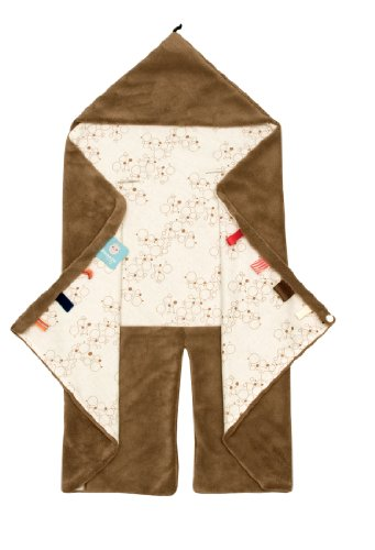 snoozebaby 306 Trendy Wrapping Wickeltuch Camel Bubbles