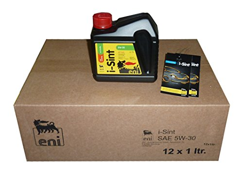 ENI I-SINT 5W-30 MOTORÖL - Bundle mit 12 x 1 Liter im Karton + 2 x eni Ölwechselzettel