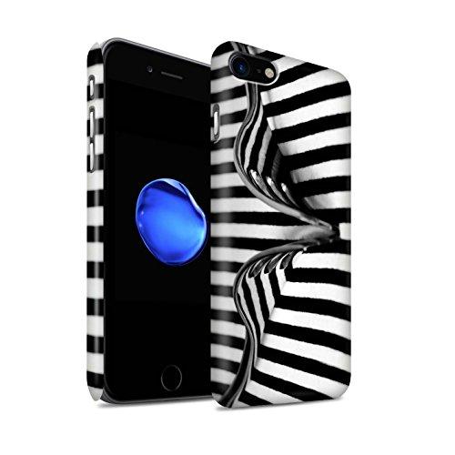STUFF4 Matte Snap-On Hülle / Case für Apple iPhone 8 / Bleistifte/Zip Muster / Abstrakte Kunst Kollektion Gabel/Streifen