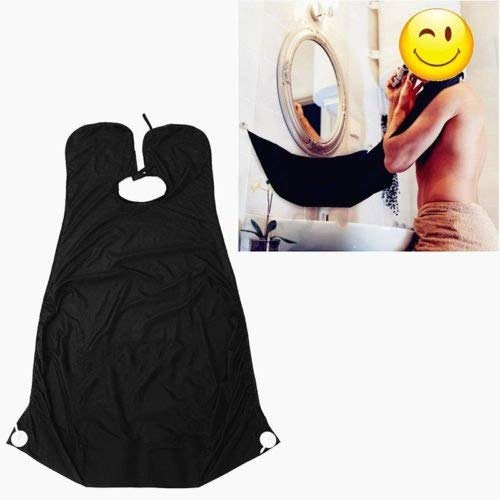Beard apron , sunnior shaving grooming apron with 2 mirror suction cups let your bathroom keep clean,the best shaving beard gift!
