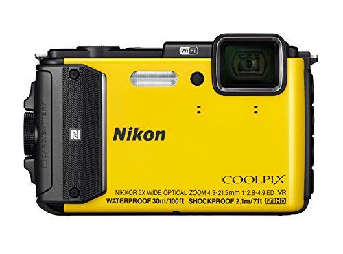 Nikon Coolpix AW130 Digitalkamera (16 Megapixel, 5-Fach Opt. Zoom, 7,6 cm (3 Zoll) OLED-Display, USB 2.0, bildstabilisiert) gelb
