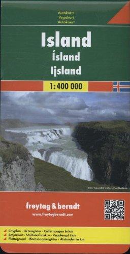Carte routière : Islande - Iceland
