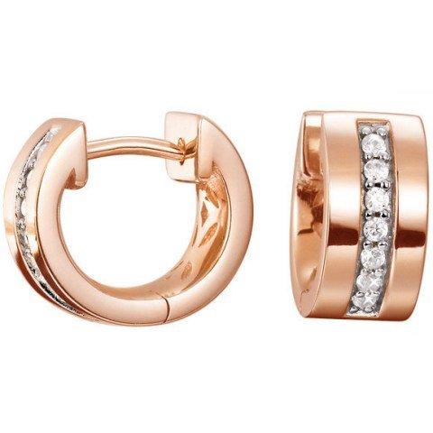 Esprit Jewels Damen-Creolen 925 Excellent Silber Pure Pave rose ESCO91734C000