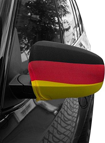 normani WM/EM Deutschland Aussenspiegel Überzug 2er SET - Spiegelfahne/Spiegel Fahne/Autospiegel/Auto Flagge/Außenspiegelflagge Farbe ohne Adler Größe L
