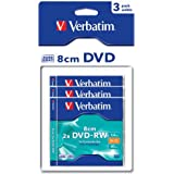 Verbatim 43593 DVD-RW 8 cm Serl 2X 30 min Scratch guard / Hard coated 1,46 Go Blister Pack de 3
