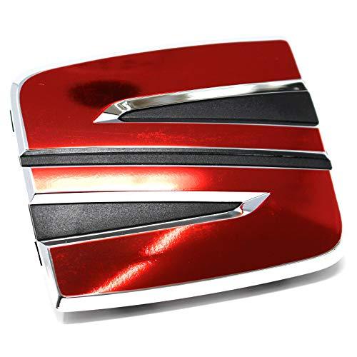 Finest Folia Emblem Set vorne + hinten inklusive Lenkrad Emblem (.Chrom Rot SE08)