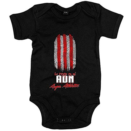 Body bebé lo tengo en mi ADN Athletic fútbol - Negro, 12-18 meses
