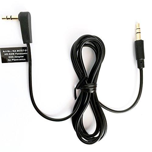 HR-KOM Plantronics EHS Anschlusskabel Aux 3;5mm Klinke Panasonic KX84757-01 (Ehs-kabel)