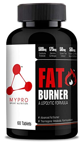 Mypro Sport Nutrition Advanced Fat Burner & Natural Weight Loss Supplement with Caralluma fimbriata + Garcinia Cambogia + Green Tea + Green Coffee + Zingiber Officinale, Effective Dietary Supplement + Papaya Fruit Extract 60 Veg Tablet For Men & Women