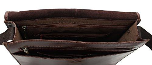 Visconti aldo vT7 portefeuille vintage en cuir tanné Marron - Vintage Tan