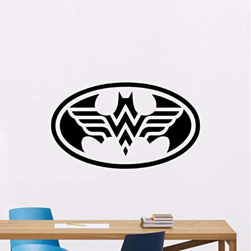zhangsh Persönlichkeit Wandaufkleber Batman Magische Frau Aufkleber Abnehmbare Superheld Wandaufkleber Kindergarten Vinyl Wanddekoration Hause Schlafzimmer Cartoon Wandmalerei Ay0228 57X33 cm