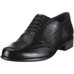 Clarks Hamble Oak 20346713 - Mocasines de cuero para mujer, color negro