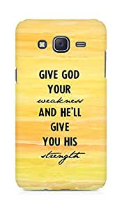 AMEZ give god your weakness and he will give strength Back Cover For Samsung Galaxy J5