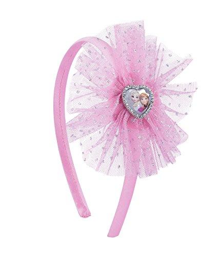 arreif ELSA Kostüm Frozen Verkleidung rosa Haarreif Haarschmuck Kindergeburtstag, Karneval, Eisprinzessin (305-237) ()
