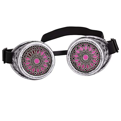Stacheldraht Spike Steampunk Goggles Brillen Rave Goth Vintage Schutzbrille Partybrillen Rave Goth Cosplay Gläser für Damen und Herren