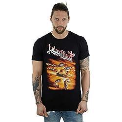 Absolute Cult Judas Priest Hombre Firepower Cover Camiseta Negro