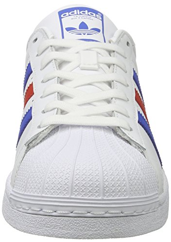 adidas Superstar Foundation Schuhe 6,5 white/blue/red - 4