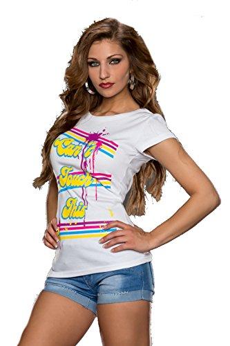 Damen Kurzarm Shirt-T-Shirt div.Farben und Größen weiss touch