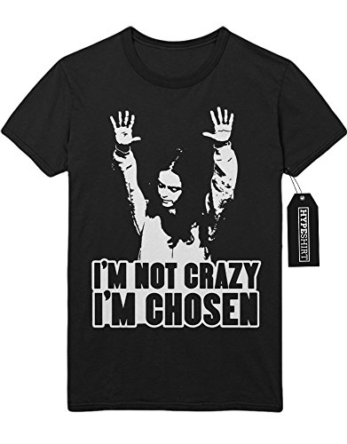 "T-Shirt Orange is the new Black ""I'M NOT CRAZY I'M CHOSEN"" C210050 Schwarz"