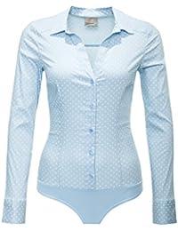 Vero Moda Damen Bodybluse Hemdbluse Langarmbluse Business Look