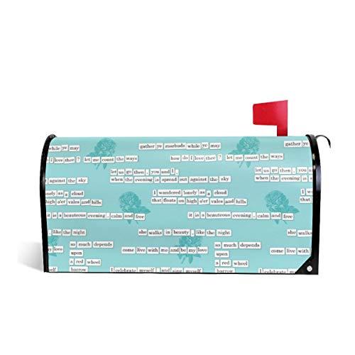 Suminla-Home Briefkasten-Abdeckung, magnetisch, Standardgröße, für Kühlschrank, Romantik, Briefkasten, 53,3 cm Lx 45,7 cm W - Für Kühlschränke Abdeckungen Magnetische