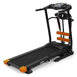 Klarfit Treado Advanced Tapis de course (ordinateur de bord, multiples options d'organisation et de surveillance de votre entrainement) - orange