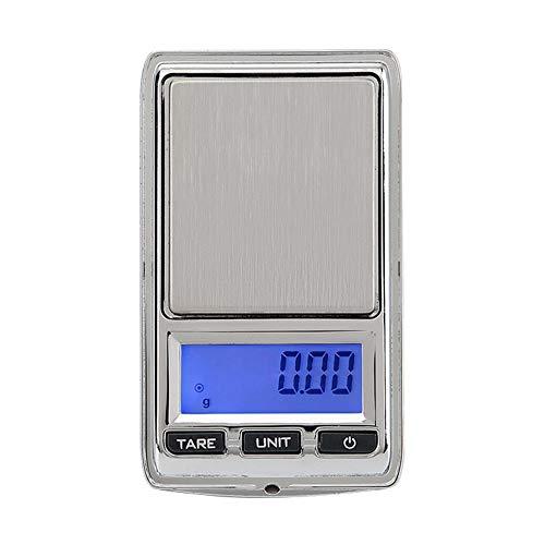 TechCode 500/0,1g Precision Digital Schmuck Waagen Mini Elektronische Waage LCD Taschenwaage, Feinwaage, Briefwaage,LCD Elektronische Bank Gewicht Waagen
