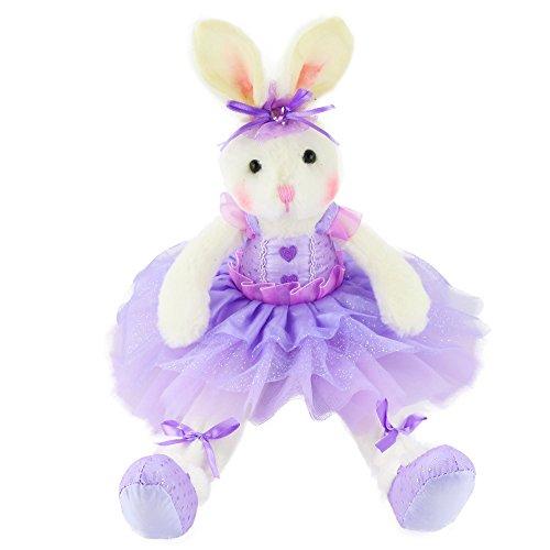 WEWILL Marken-Qualität Original Entzückende Plüsch Ballerina-Häschen Stofftier Kaninchen-weiche Spielzeug-Puppe 15-Inch/ 40CM (Rosa)