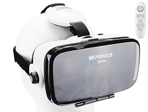 VR Brille VR-PRIMUS VA4s + Fernbedienung für Android Handy 's | VR-Headset für Smartphone 's z.B....