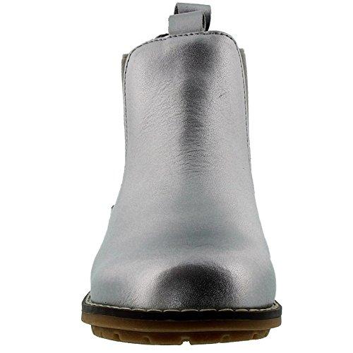 EnFant Unisex Kinder Stiefel, Leder, Boots, 815143 Silber