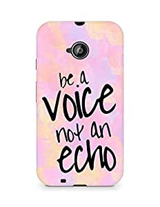 AMEZ be a voice not an echo Back Cover For Motorola Moto E2