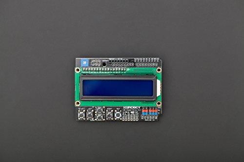 Preisvergleich Produktbild LCD Keypad Shield is The One to Provide 2-line 16 Character LCD Display Arduino Expansion Boards. It Extends the Plurality Key Input,  Available to The User as a Selection Button LCD Screen Menu or Use the Control Buttons