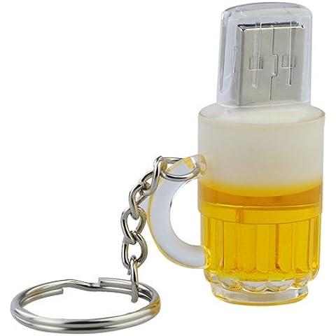 8GB Elegante Bottiglia di birra a forma di USB Flash Drive con portachiavi