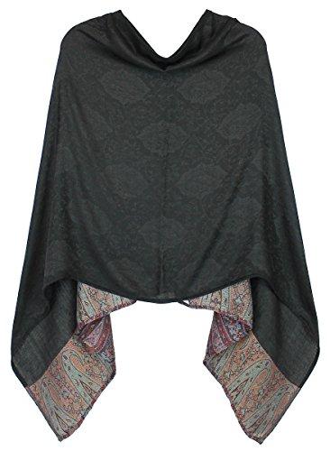 dy_mode Eleganter Poncho/Cape für Damen weich, leicht, chic - Poncho Damen - WJ036...