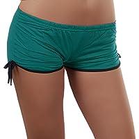 Damen Sport Short im angesagten Retro Stil, eine kurze Hose auch als Panty, Hotpants tragbar 34-38