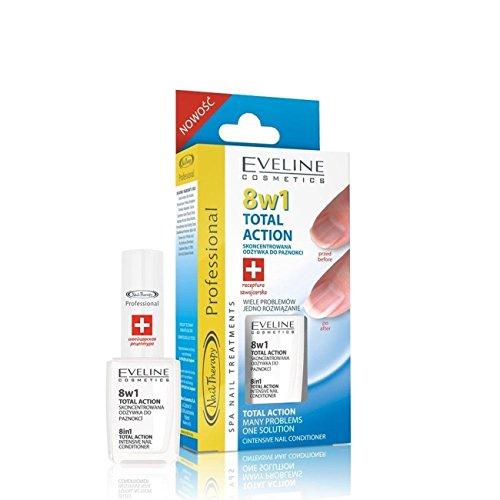 Eveline Cosmetics Nageltherapie 8-in-1 Total Action Nagelhärter, 12 ml, Doppelpack