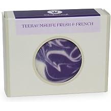 Empire jabón jabón de lavanda de árbol de té fresco y francés, Paquete 1er (1 x 100g)