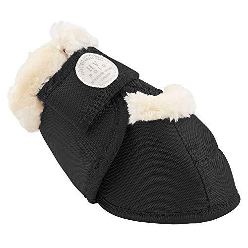 HV Polo Hufglocken Joya Fake Fur   Gr. L   Black schwarz