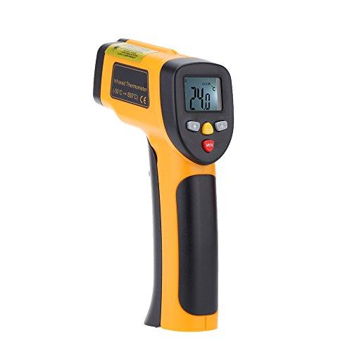 Kkmoon ir termometro ad infrarossi digitale pirometro senza contatto tester di temperatura -55~650°c(-58~1202°f)