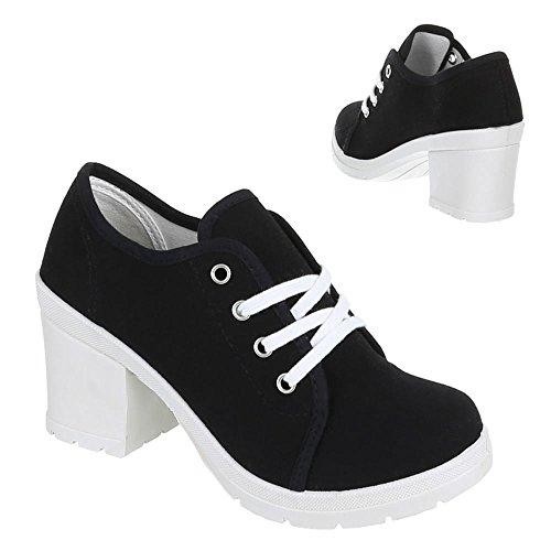 Chaussures femme, 0015–71A, Chaussures basses de loisirs chaussures Noir - Noir