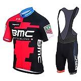 TOPBIKEB Maillot Cyclisme Homme avec Cuissard Court pour VTT (M, BMC)...