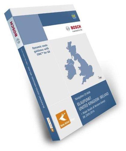 TeleAtlas Blaupunkt Grossbritannien/Irland 2009/2010 DX mit Hauptverkehrsstrassen Europas für TravelPilot DX-Plattform